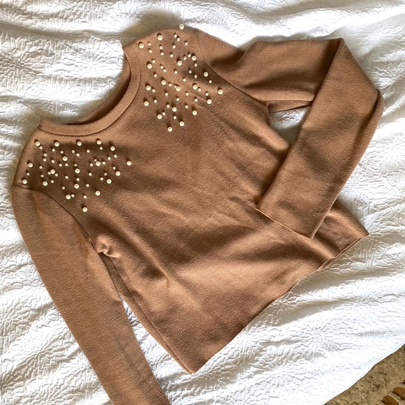 Zara Sweater with Pearl Detailing